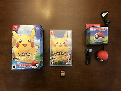 Pokemon: Lets Go Pikachu! Pokeball Plus Bundle Nintendo Switch!  Free Shipping!