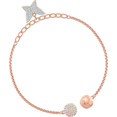 aae18390bb5e5 NIB $129 SWAROVSKI Lilia Bangle Bracelet Rose Gold Butterflies ...