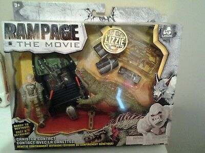 New Rampage Movie Canister Contact Lizzie Crocodile Play Set