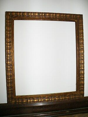 Superb Scarce Antique 17Th C. Style Ripple Moulded Patinated Gilt Picture Frame