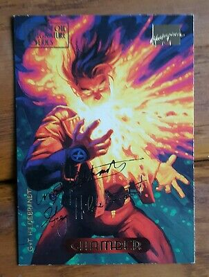Marvel masterpieces TRADING CARD GOLD FOIL SIGNATURE SERIES chamber