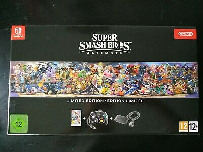 Super Smash Bros. Ultimate Limited Edition Switch Comme Neuf + Steelbook + Pins