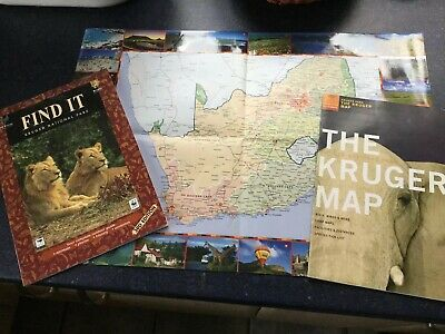 Kruger Park South Africa map & guide + SA colour Map - Benefits Charity