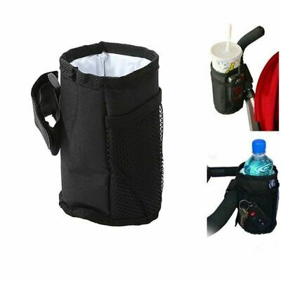 Baby  Bottle Cup Holder Bag Pushchair Pram Wheelchairs Drink Cu