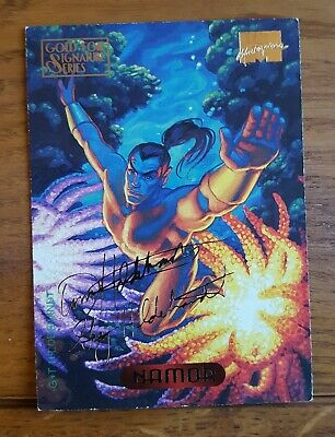 Marvel Masterpieces Gold Foil Signature Series Trading Card Namor