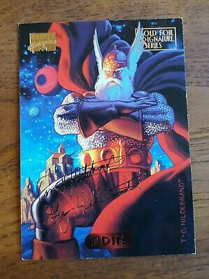 Marvel Masterpieces Gold Foil Signature Series Trading Card Odin