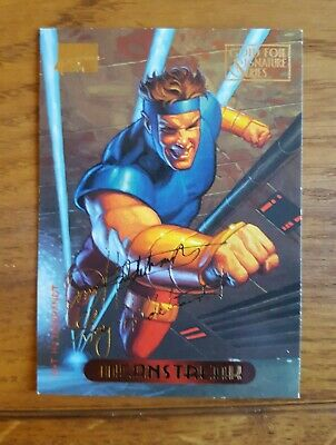 Marvel Masterpieces Gold Foil Signature Series Trading Card Meanstreak