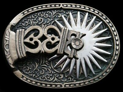 RI03151 VINTAGE 1980s **THE CONQUISTADOR BOOT SPUR** BELT BUCKLE