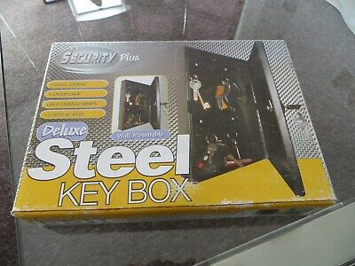Wall Mountable Lockable Steel Key Safe Cabinet Security Box