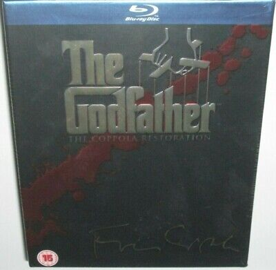 THE GODFATHER TRILOGY Blu-Ray Box Set NEW Sealed Classic Mafia Drama Al Pacino