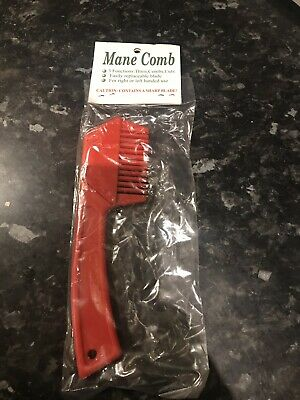 Mane and Tail Thinning Razor, Pulling and Thinning Comb, RED, FREE UK Postage