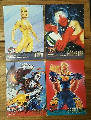 4 Fleer Ultra X Men Trading Cards Mutant Liberation Front 1995