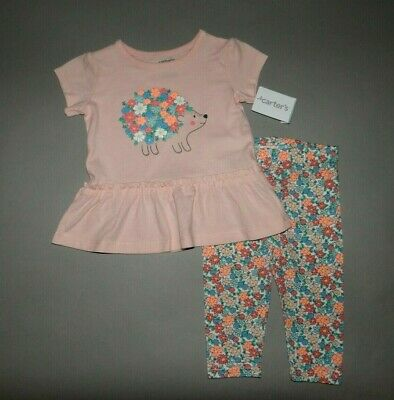 a55db415a Baby girl clothes, 5T, Carter's Peplum top/leggings/SEE DETAILS ON SIZE