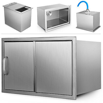 52*34.5*31.5 CM Drop In Ice Chest Bin Stainless Cold Drinks Box Wine Chiller