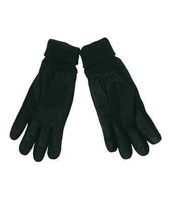 $121 Isotoner Men'S Black Brushed Microfiber Warm Winter Smartouch Gloves Size L