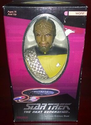 Star Trek The Next Generation Worf Limited Edition Bust Sideshow #0603/2000 NEW