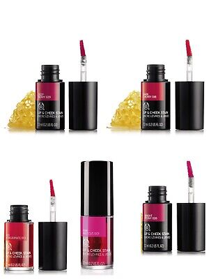 Bodyshop lip & cheek stain various colours