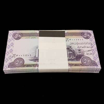 5,000 Iraqi Dinars (100) 50 Notes Uncirculated!! Authentic! Iqd!
