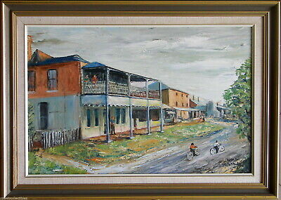 Norma McDonald (1925-2015) Original Oil Painting Rockley Country Town Bathurst