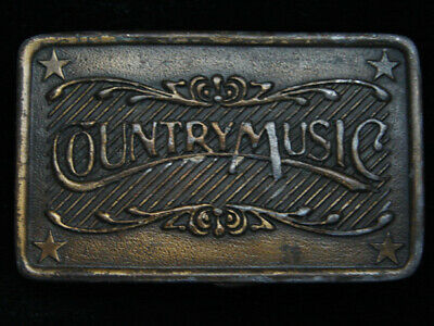 PL11107 VINTAGE 1970s **COUNTRY MUSIC** COMMEMORATIVE BRASSTONE BELT BUCKLE