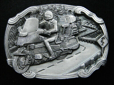 RI03120 VINTAGE 1980s **TOURING MOTORCYCLE** COMMEMORATIVE BELT BUCKLE