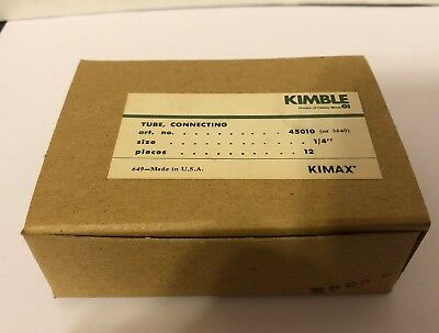 KIMBLE KIMAX Straight Connecting Tube Glass 8 mm 45010 QTY 12 NEW IN OPEN BOX