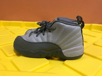 wholesale dealer 7a29f ce8c9 Girls  Nike Air Jordan XII 12 Grey Pink Retro 2017 GT Toddler 819666-029