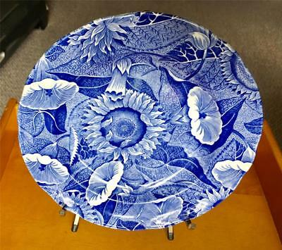 """SPODE Blue Room """"Sunflower"""" 7 1/2"""" Salad Plate—-Made in England"""