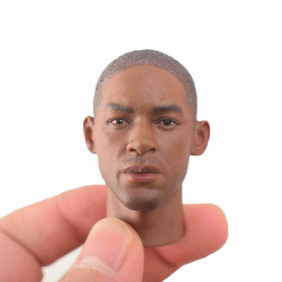 """1/6 Scale Black Man Smith Head Carving Sculpt A35 For 12"""" Male Body Figure"""
