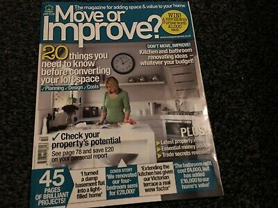 Move Or Improve Magazine October 2008  ( NEW OLD STOCK) ~ Fast & Free UK Post
