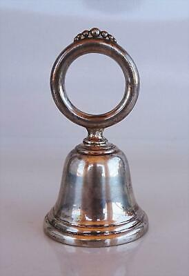 Vintage Webster Company Sterling Silver Dinner/table Bell Hallmarked Ring Handle
