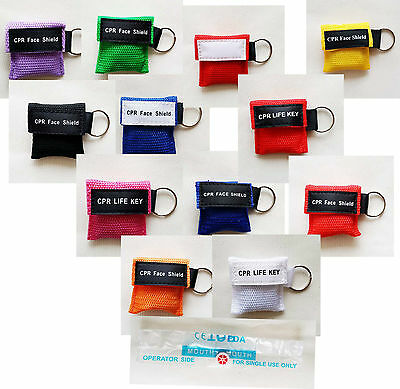 CPR Mask Keychain Emergency Rescue CPR Face Shield Disposable First Aid 2019