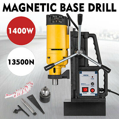 NEW 240v Commercial Magnetic Drill Electric Electro-Mag Base Chuck Power On Sale