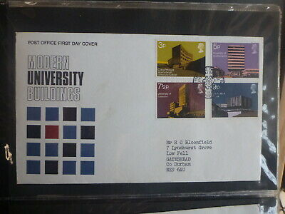 Uk 1971 Modern University Buildings Set 4 Stamps Fdc First Day Cover