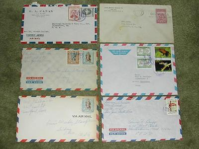 Lot of (6) Costa Rica Covers.