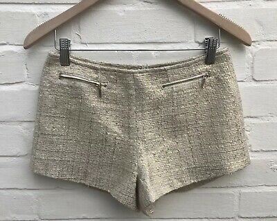 New Forever 21 Shorts Hotpants Gold Tweed Formal Occasion Blog Holiday XS