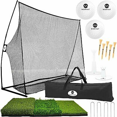 Morvat Golf Net Set, Golf Practice Mat and Golf Accessories