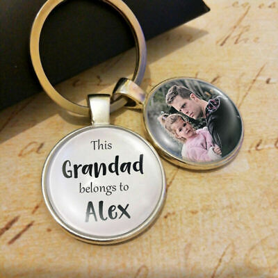 Personalised Photo Keyring Merry Christmas Gifts Dad Mum Present Grandad Grandma
