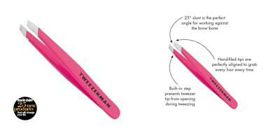 Tweezerman Neon Pink Stainless Steel Mini Slant Tweezer