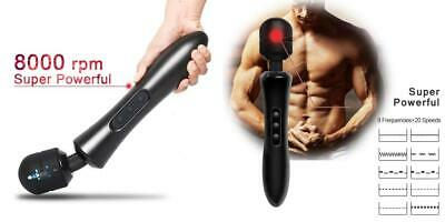 H&L Super Powerful Magic Wand Massager, Electric Handheld Massage Stick 8...