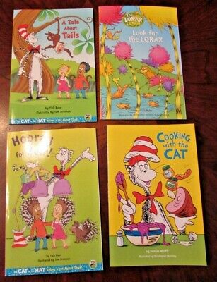 Set of 4 NEW Dr. Seuss easy readers Cooking with the Cat Look for the Lorax PB
