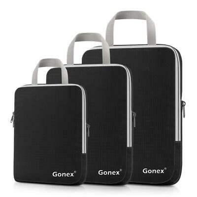 Gonex Luggage Packing Cubes Extensible Compression Clothing Storage Bags...