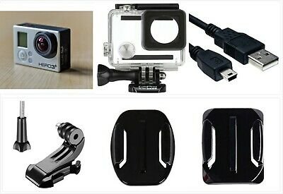 Used GoPro HERO 3+ Plus Silver 1080P 10MP HD Sport Action Camera waterproof case