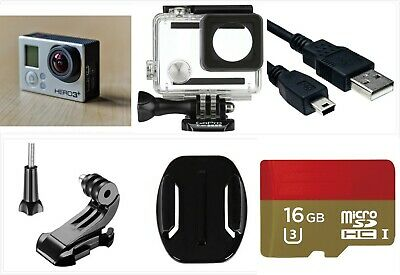 Used GoPro HERO 3+ Plus Silver 1080P HD Sport Action Camera waterproof 16GB SD