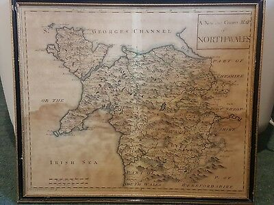 Antique A New And Correct Map Of North Wales Framed Rob Morden?