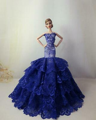 Fashion Party Princess Dress Wedding Clothes/Gown For 11.5 inch Doll a15