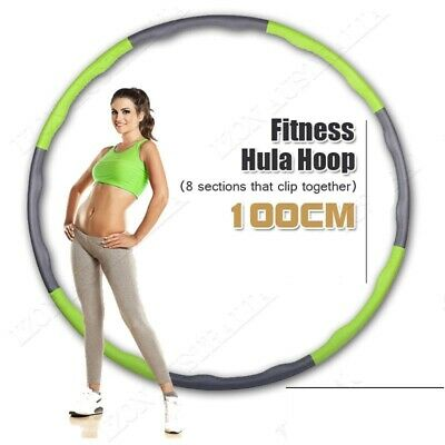 Weighted Hula Hoop - Foam Padded Body Massage Waist Slim Fitness Exercise Gym UK