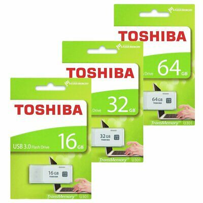 Toshiba 16GB 32GB 64GB U301 USB 3.0 Stick Flash Drive Speicherstick Weiß APR