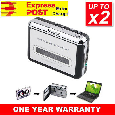Tape to PC USB Cassette to MP3 Converter Capture Audio Portable Music Player