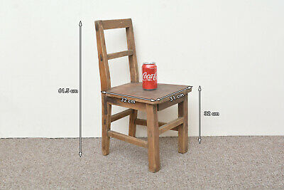 vintage wooden chair childs chair small old wooden - FREE POSTAGE